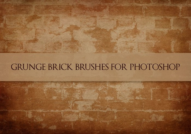 Grunge Brick Brushes For Photoshop