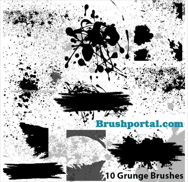 Free Grunge and Splatter Brushes