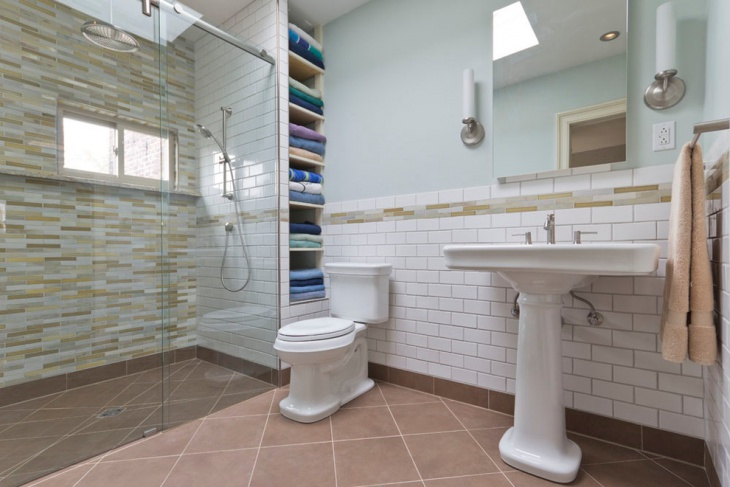 bathroom remodel storage idea
