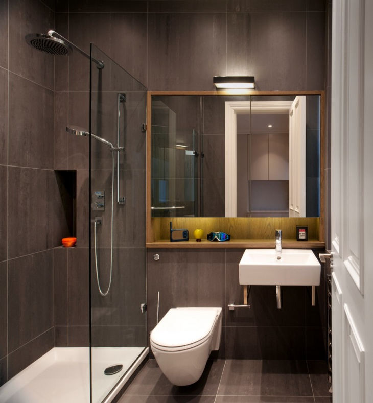 dark brown bathroom design