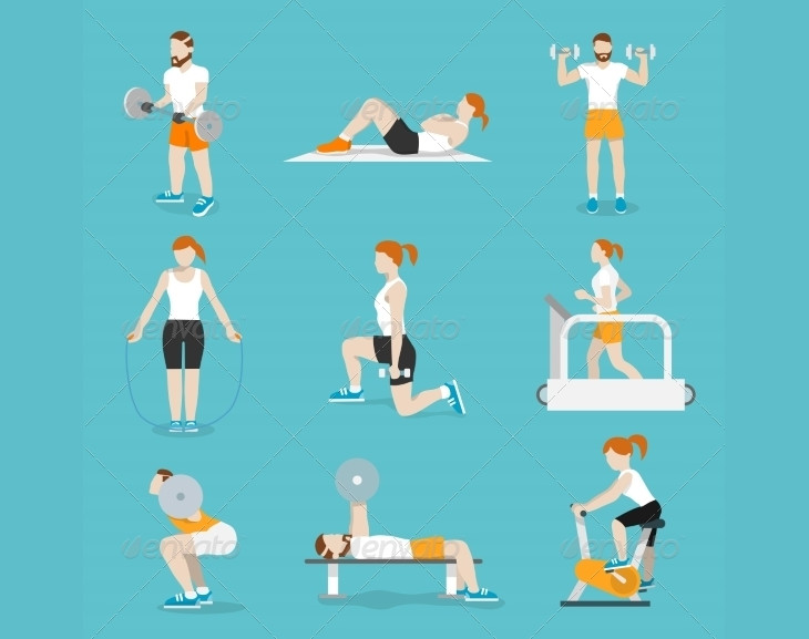 Gym Exercise Icons