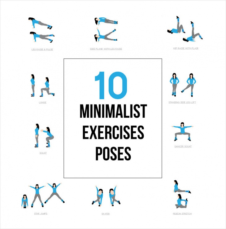 10 Exercise Pose Icons