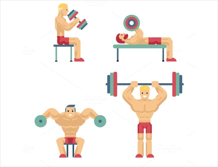 Unique Weightlifting Icons