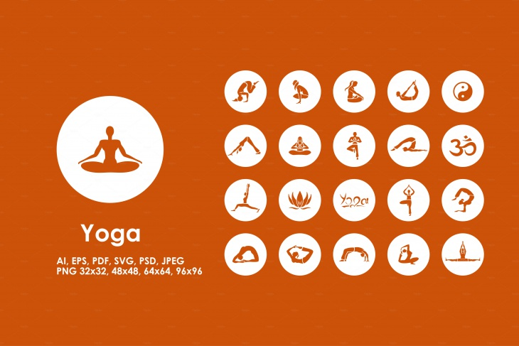 Yoga Icons in PSD Format