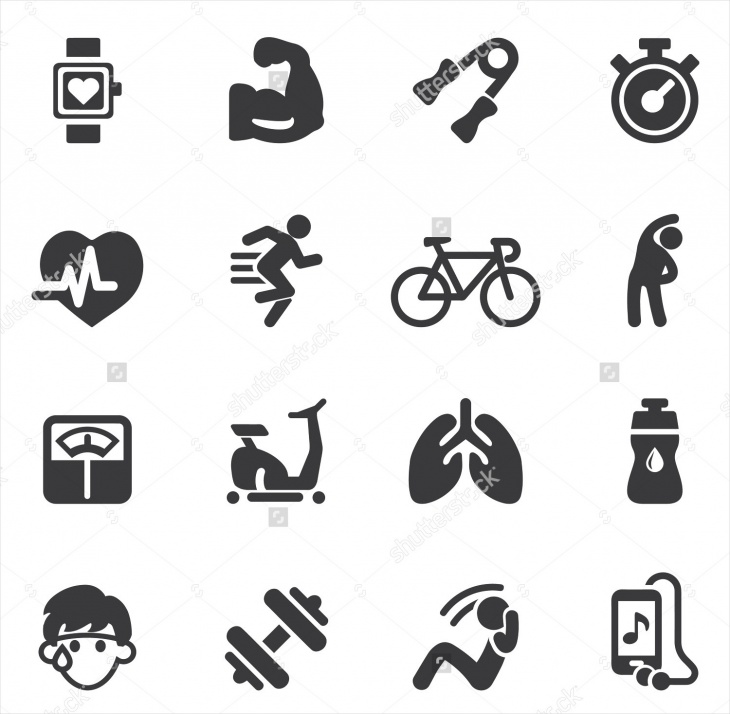 High Resolution Exercise Icons