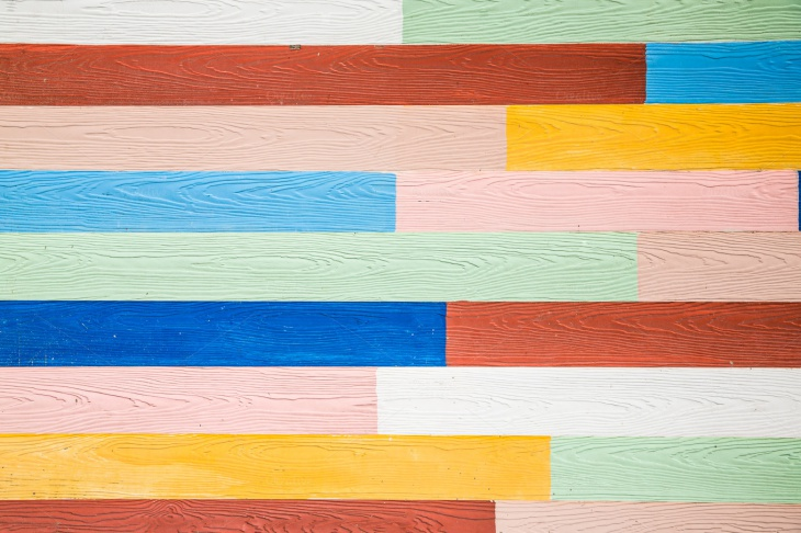 colour wood wall pattern