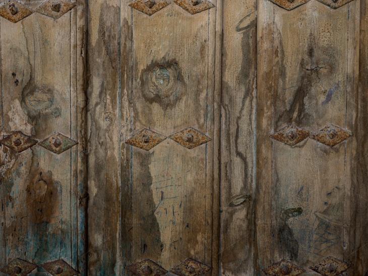 Texture of the Old Wooden Door
