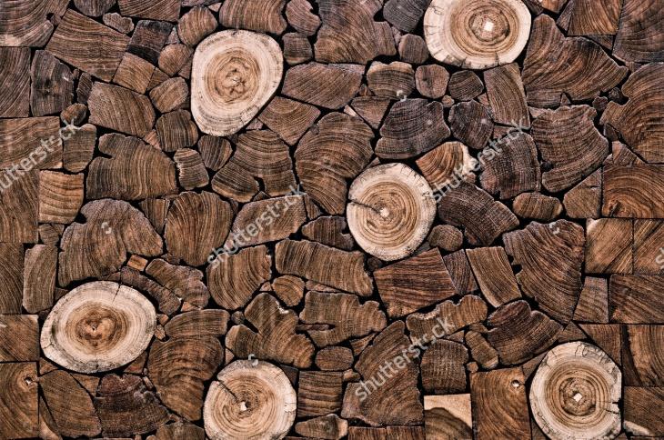 Teak Wood Stump Background