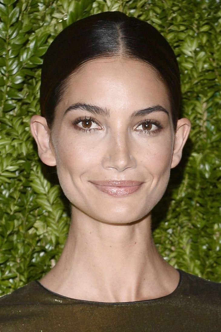 lily aldridge updo hairstyle