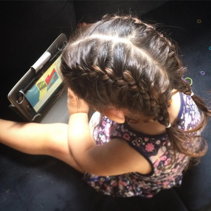 Kids Summer Hairstyle with Braids