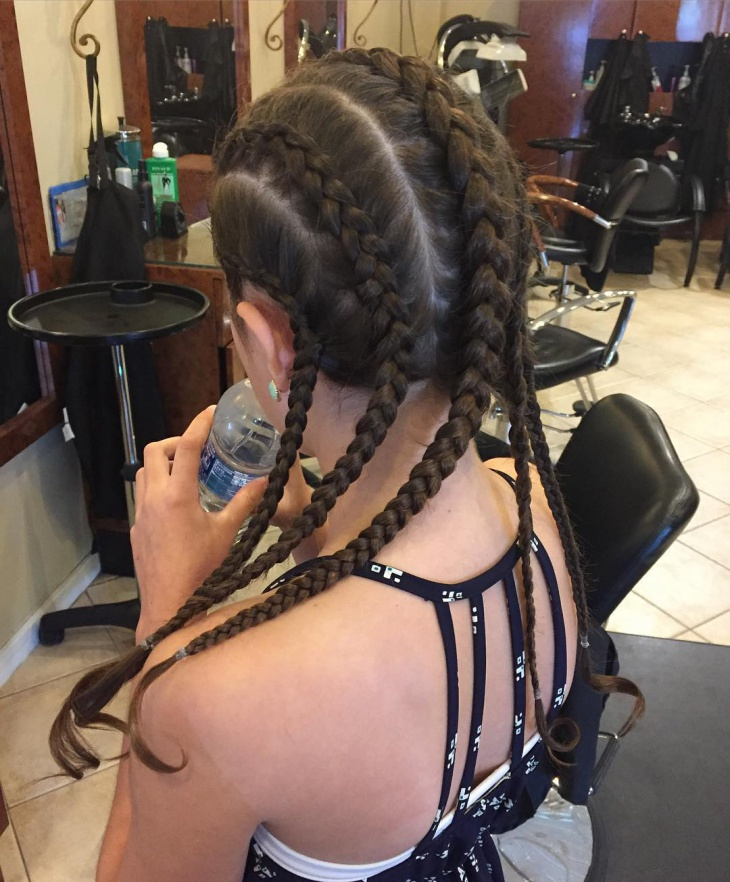 Cornrow Hairstyle for Girls