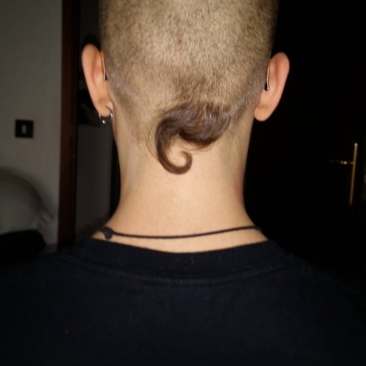 Trendy Pigtail Haircut for Men