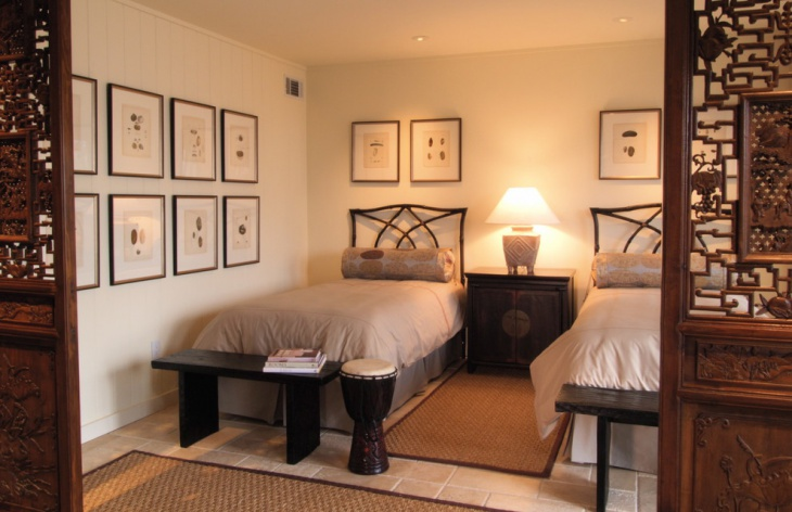 double beds with wall art gallery