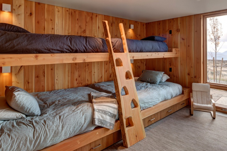 Wooden Guest Room Design