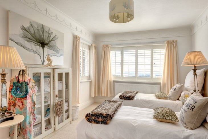 shabby chic style guest room