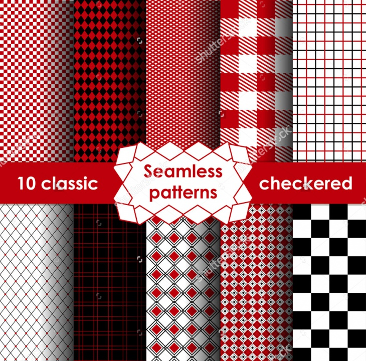 classic checkered seamless pattern