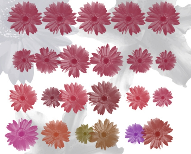 abstract flower brushes