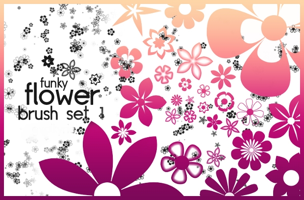 Funky Flower Brush Set