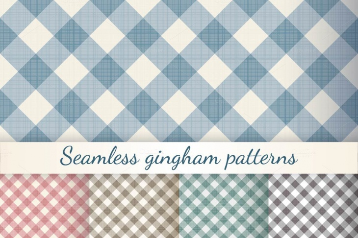seamless gingham check patterns