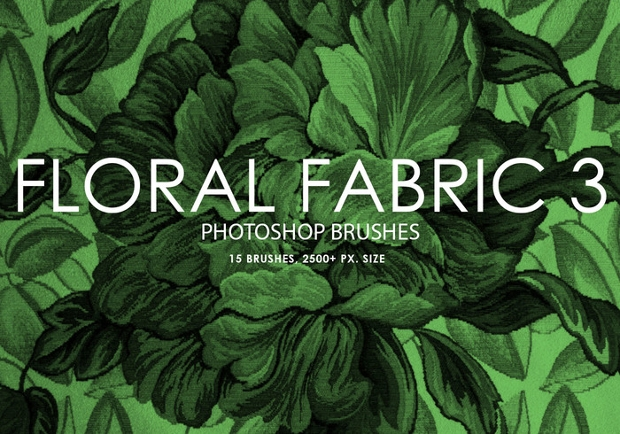 floral fabric photoshop brushes