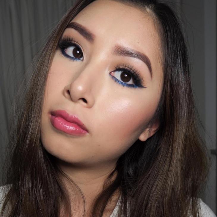 Easy Blue Eyeliner Makeup