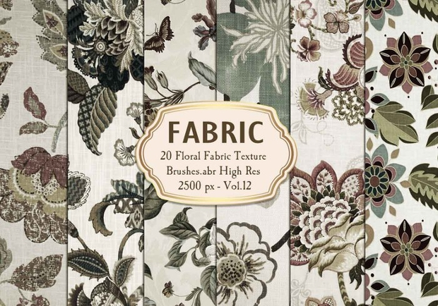 floral fabric texture brushes