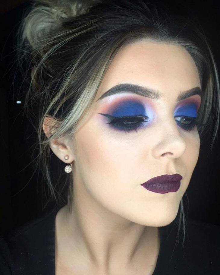 dark blue eye makeup
