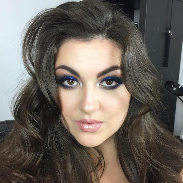 celebrity style blue eye makeup