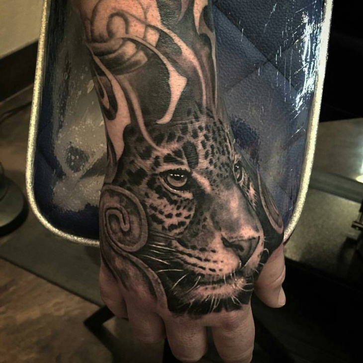 Animal Tattoo on Palm
