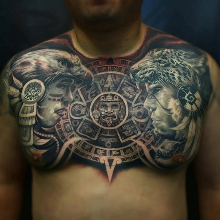 Wonderful Chest Tattoo for Men