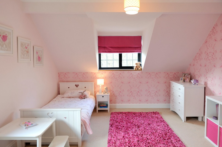 Pretty Pink Girls Bedroom Deisgn