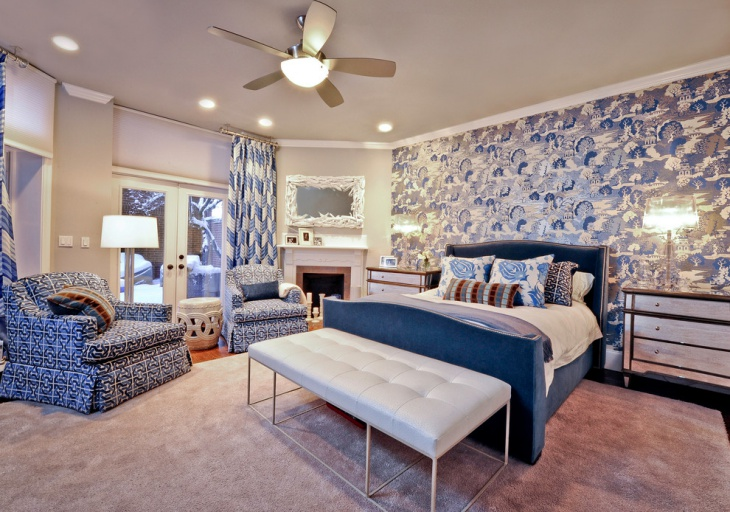 Blue Designed Chairs for Bedroom