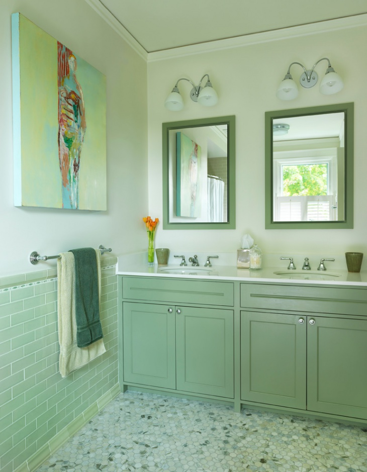 green bathroom accessories - Bathroom Accessories Color Ideas