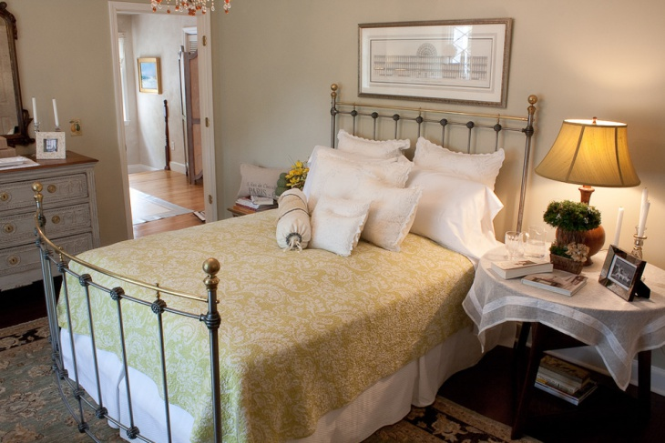 Traditional White Guest Room