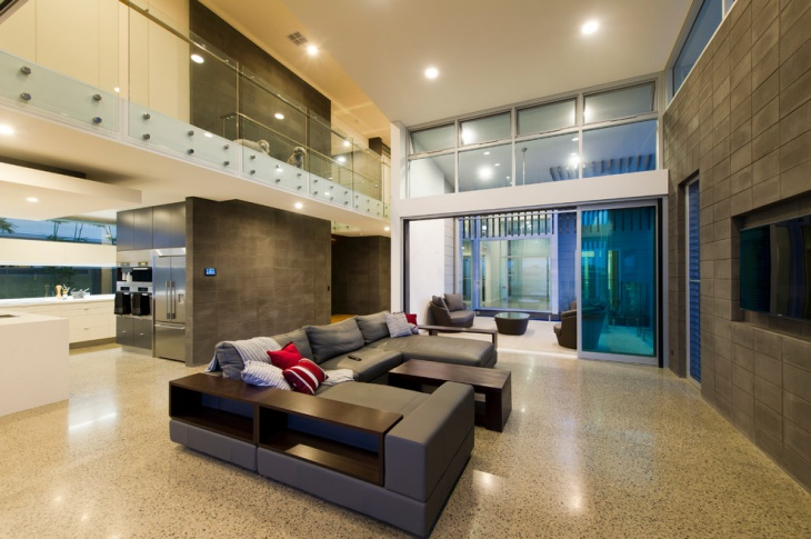 Gorgeous Lighting Concrete Flooring