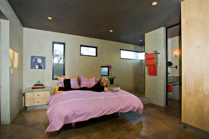 Industrial Kids Concrete Flooring Bedroom