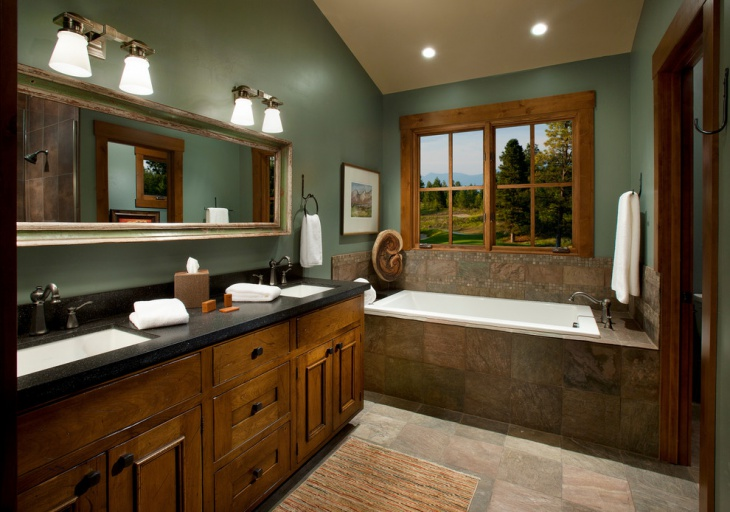 20 green bathroom designs ideas design trends for Green color bathroom design