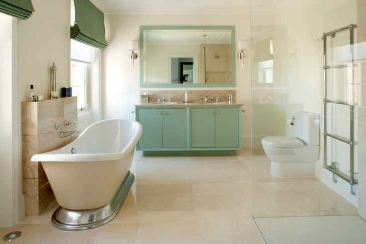 Bathroom Green Cabinets