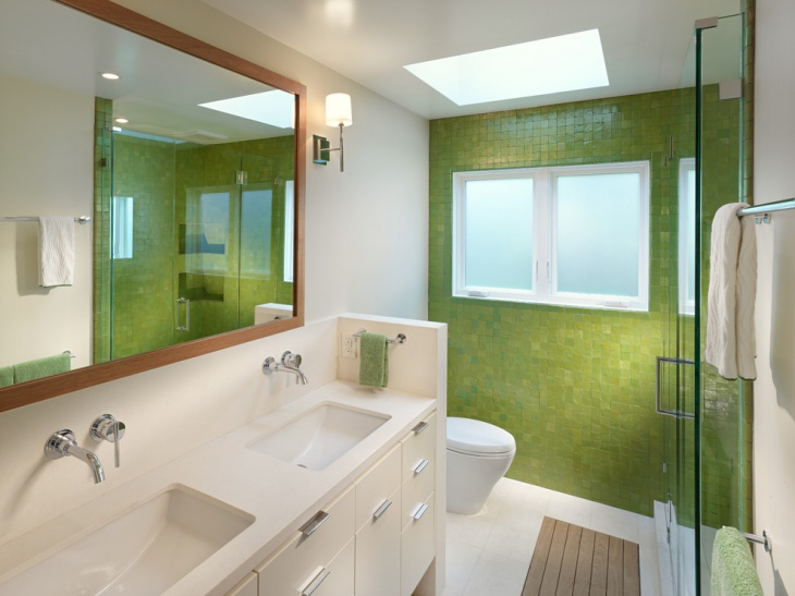 Green and White Bathroom Idea