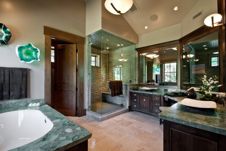 Luxurious Bathroom Countertop Design