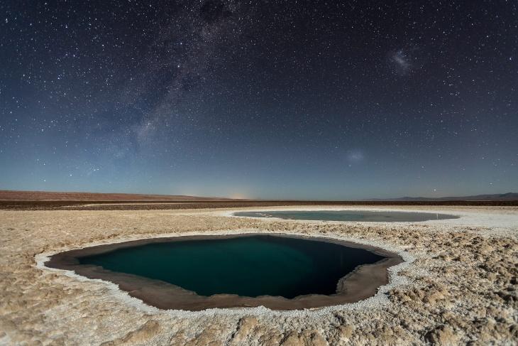 lagunas baltinache atacama desert by victor lima