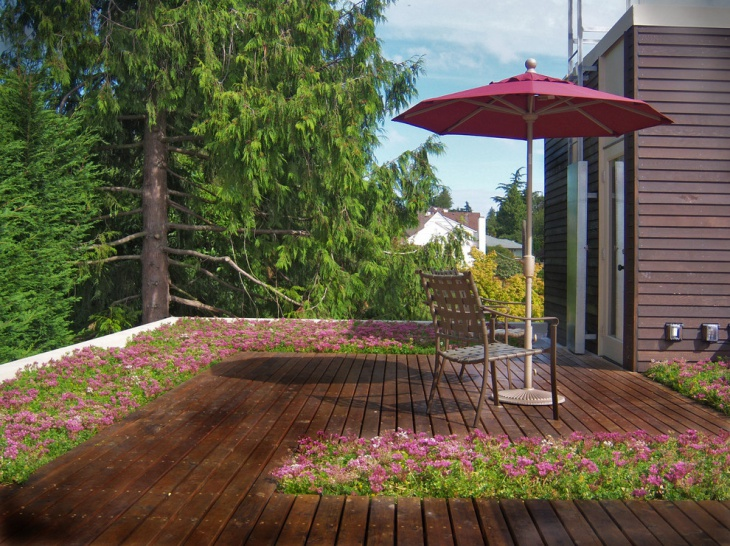 roof garden flooring idea