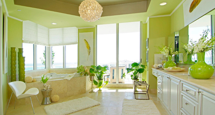 Green Bathroom Ideas and Designs