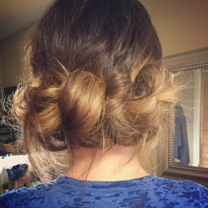 Victorian Style Knotted Hairstyle