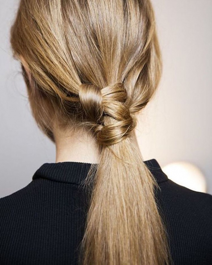Classy Knot Hairstyle