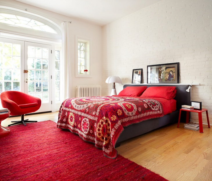 Red and White Bedroom Furniture
