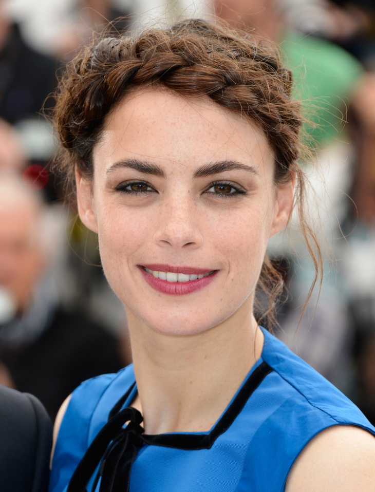 Berenice Bejo Braided Updo Hairstyle