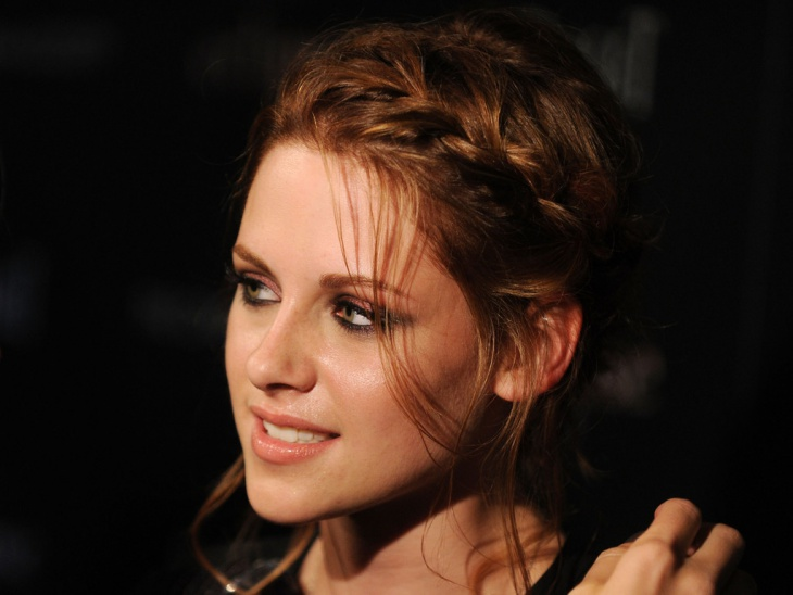 Kristen Stewart Messy Braid Updo