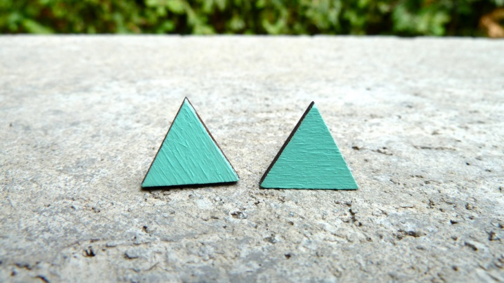 Triangle Geometric Stud Earrings