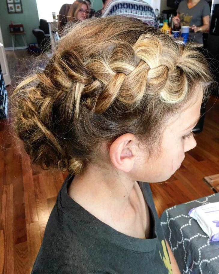 side braid for short hair